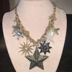 Stars Mixed Metals Statement Necklace